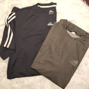 Set of 2 ADIDAS dry fit short sleeved shirts